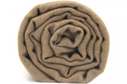 Écharpe couleur taupe bronze en laine cachemire