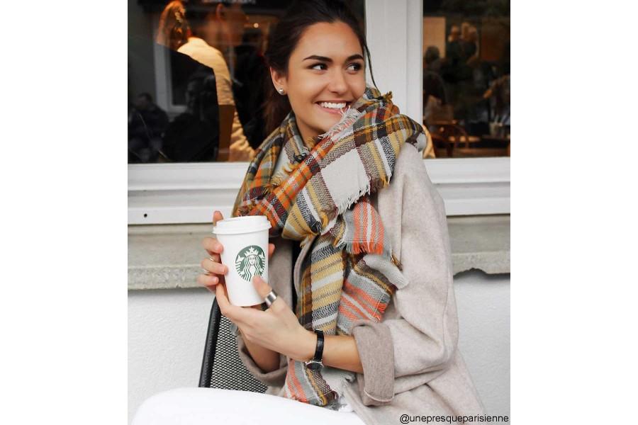 ... Écharpe oversize en tricot écossaise db5047d3078