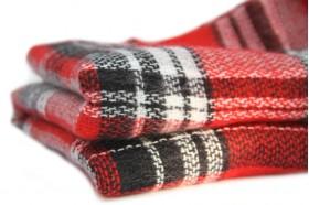 Écharpe oversize à carreaux