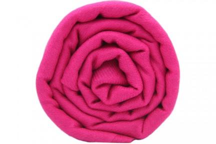 Écharpe en cachemire rose fushia pour femme