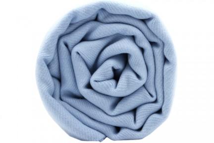 Pashmina bleu ciel - Etole et écharpe bleu ciel clair