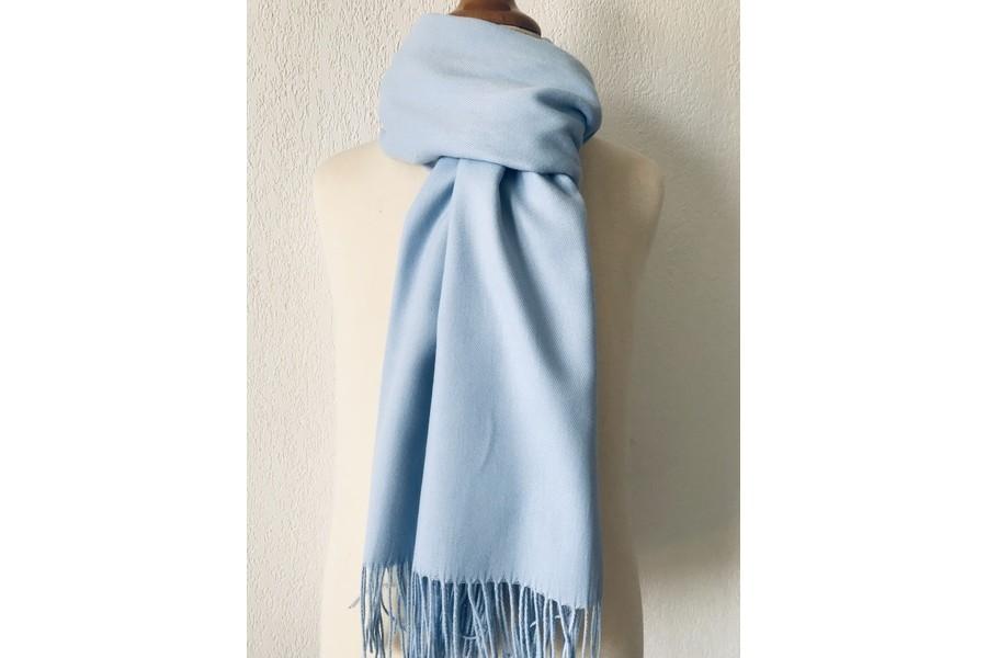 acheter sensation de confort prix Pashmina bleu ciel - écharpe bleu ciel