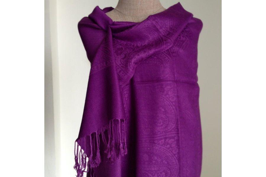 nouvelles images de achat authentique plutôt sympa Echarpe violette laine