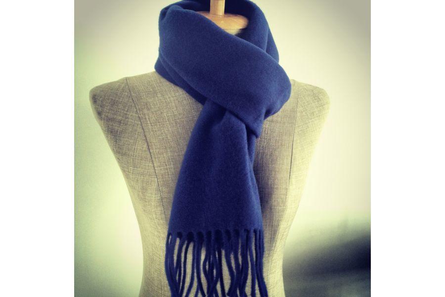 0986672dd718 echarpe laine femme bleue
