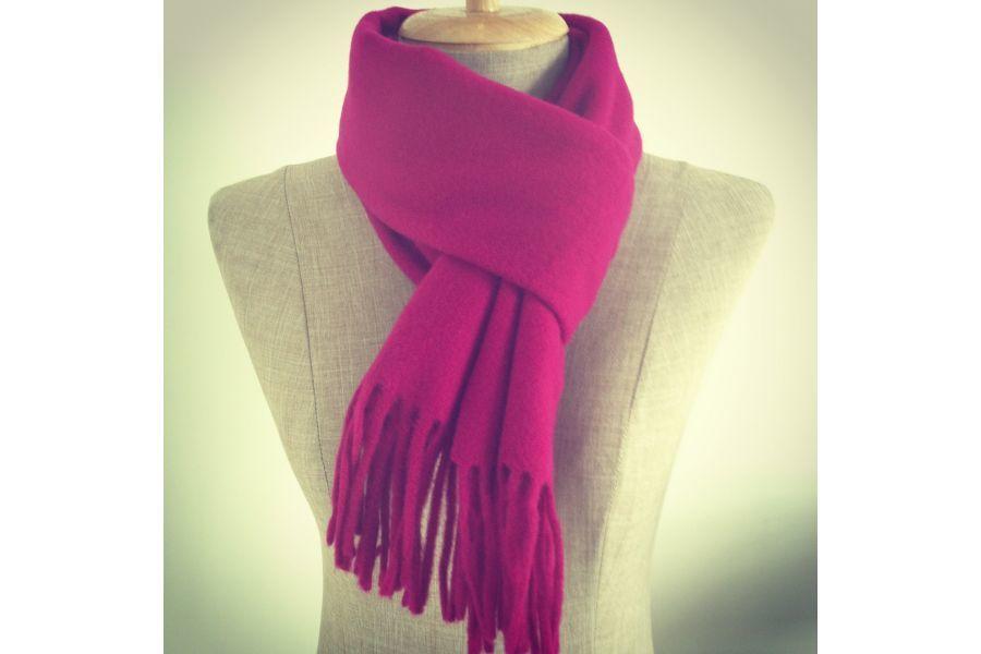 Écharpe rose fuschia fluo en laine pour femme abb68860e1d