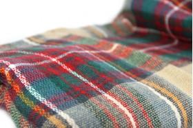 miniature : Écharpe en laine à carreaux beiges