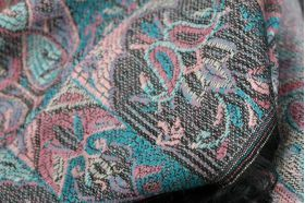 miniature : Pashmina écharpe bicolore et révérsible