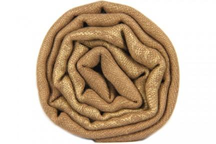 Foulard bronze marron clair