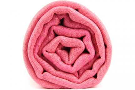 Foulard rose pale femme