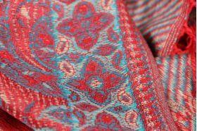 Châle rouge motif cachemire pour femme et mariage