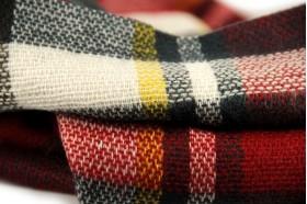 miniature : Écharpe à carreaux rouge homme et femme