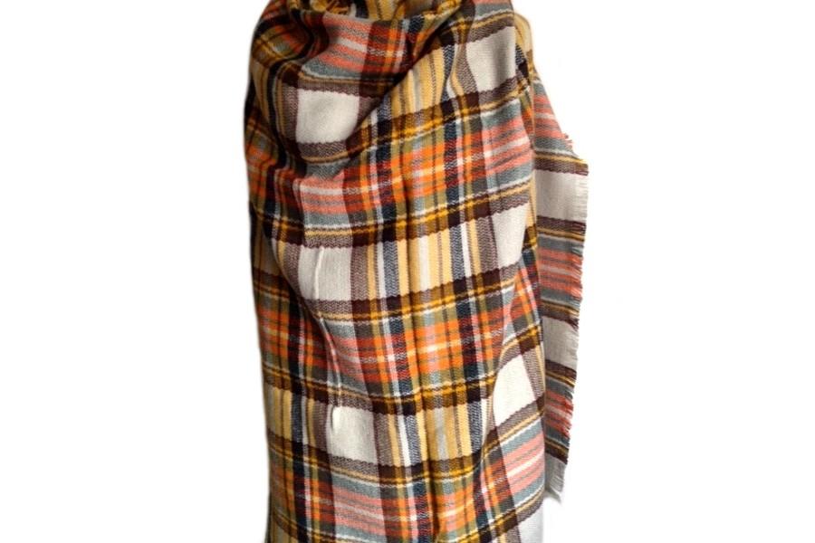 ... Écharpe oversize en tricot écossaise ... 9f651219767