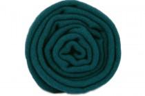 Écharpe bleu canard, vert émeraude  et menthe en laine