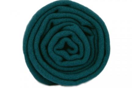 Écharpe bleu vert canard en laine