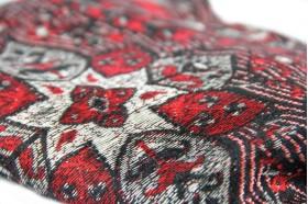 miniature : Châle pashmina brodé style artisanal