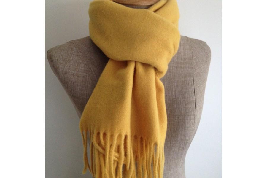 price reduced cheapest price wholesale sales Écharpe jaune moutarde en laine homme et femme