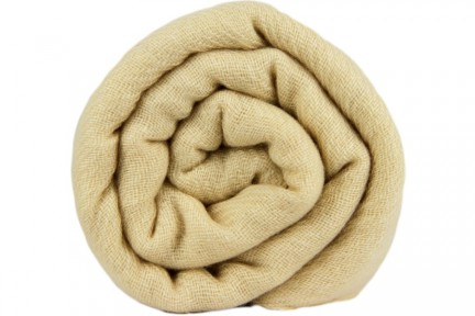 Écharpe en cachemire beige