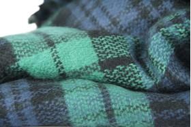 Echarpe tartan vert imprimé écossais