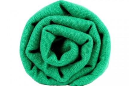 Écharpe en cachemire vert