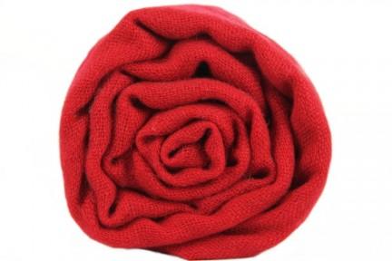 Écharpe Cachemire rouge Cerise