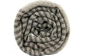 miniature : Étole en cachemire blanche et grise