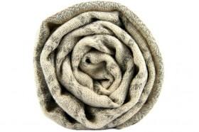 miniature : Écharpe damier noir et blanc en cachemire