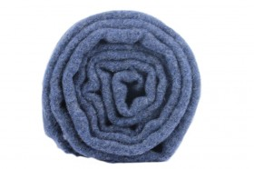 Écharpe en laine bleue marine