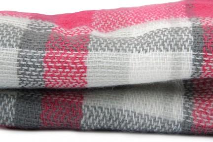 Écharpe tartan à carreaux rouge