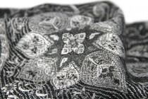 Pashmina écharpe bicolore et révérsible