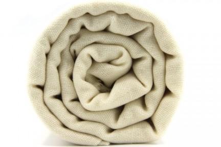 Écharpe en laine cachemire crème