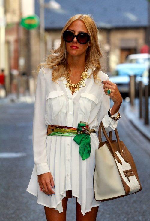 comment porter foulard en ceinture