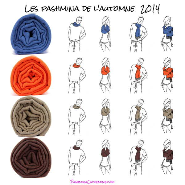differentes facons porter pashmina