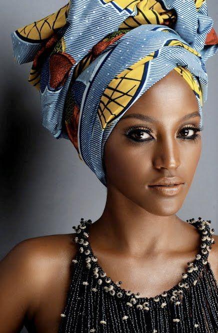 nouer mettre foulard cheveux africain
