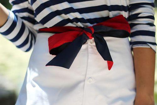 foulard en ceinture