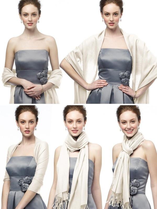 Comment porter avec style une étole pashmina