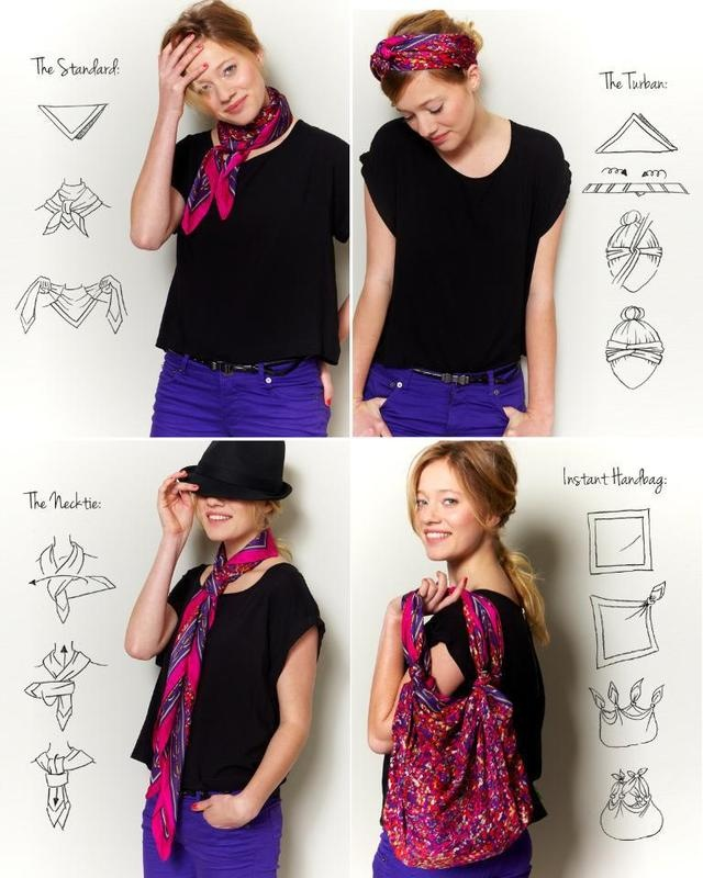 Fa ons et mani res de mettre porter et nouer une charpe - Differentes facons de porter un foulard ...