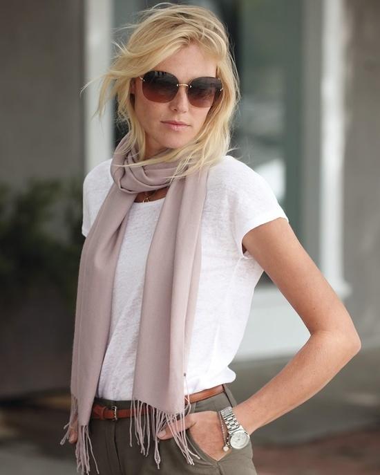 foulard pour blonde