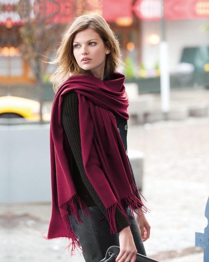 foulard pour brune