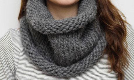 tuto pour tricoter un snood