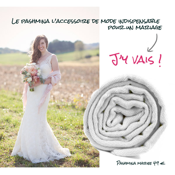 pashmina mariee pour mariage