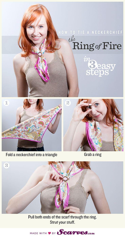 bague de foulard comment faire