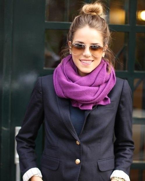 porter foulard avec veste