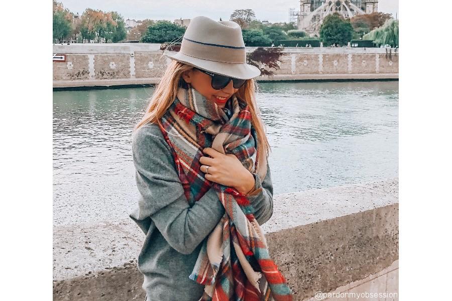 comment s'habiller avec Echarpe plaid camel
