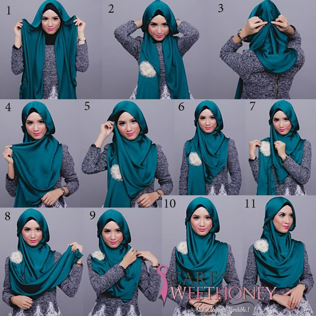 hijab pashmina tutorial simple