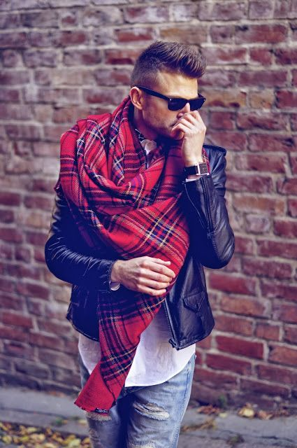 foulard tartan homme