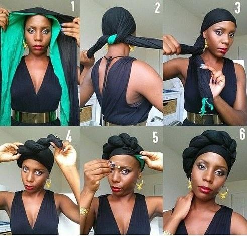 tuto foulard turban