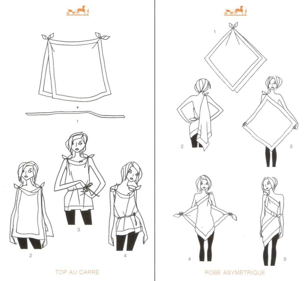 mettre foulard facon originale