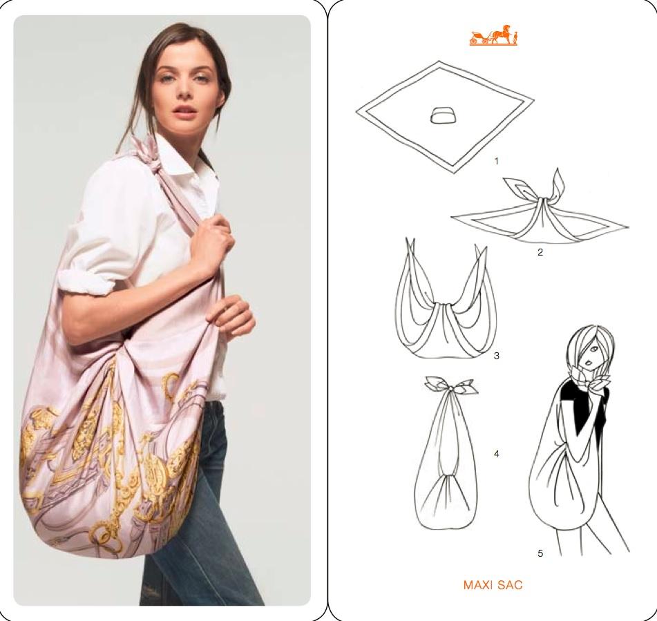 porter foulard maniere originale