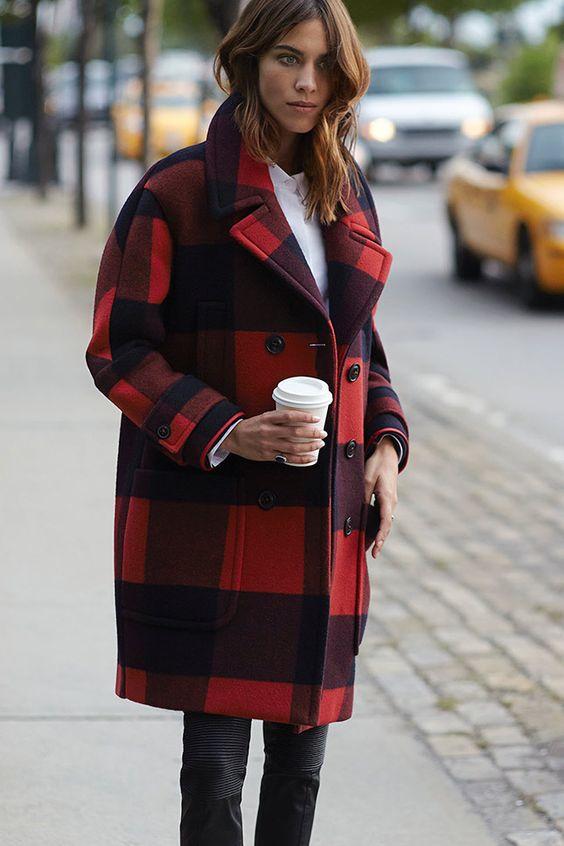 comment porter manteau tartan