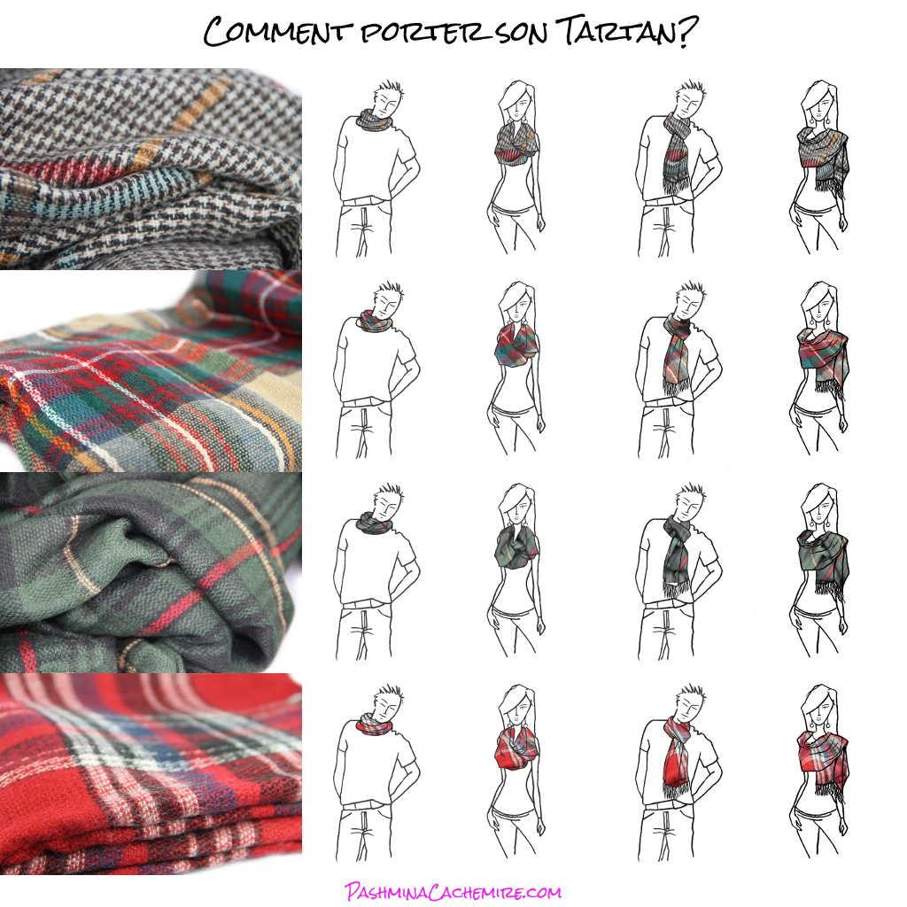 Comment bien porter son écharpe Tartan